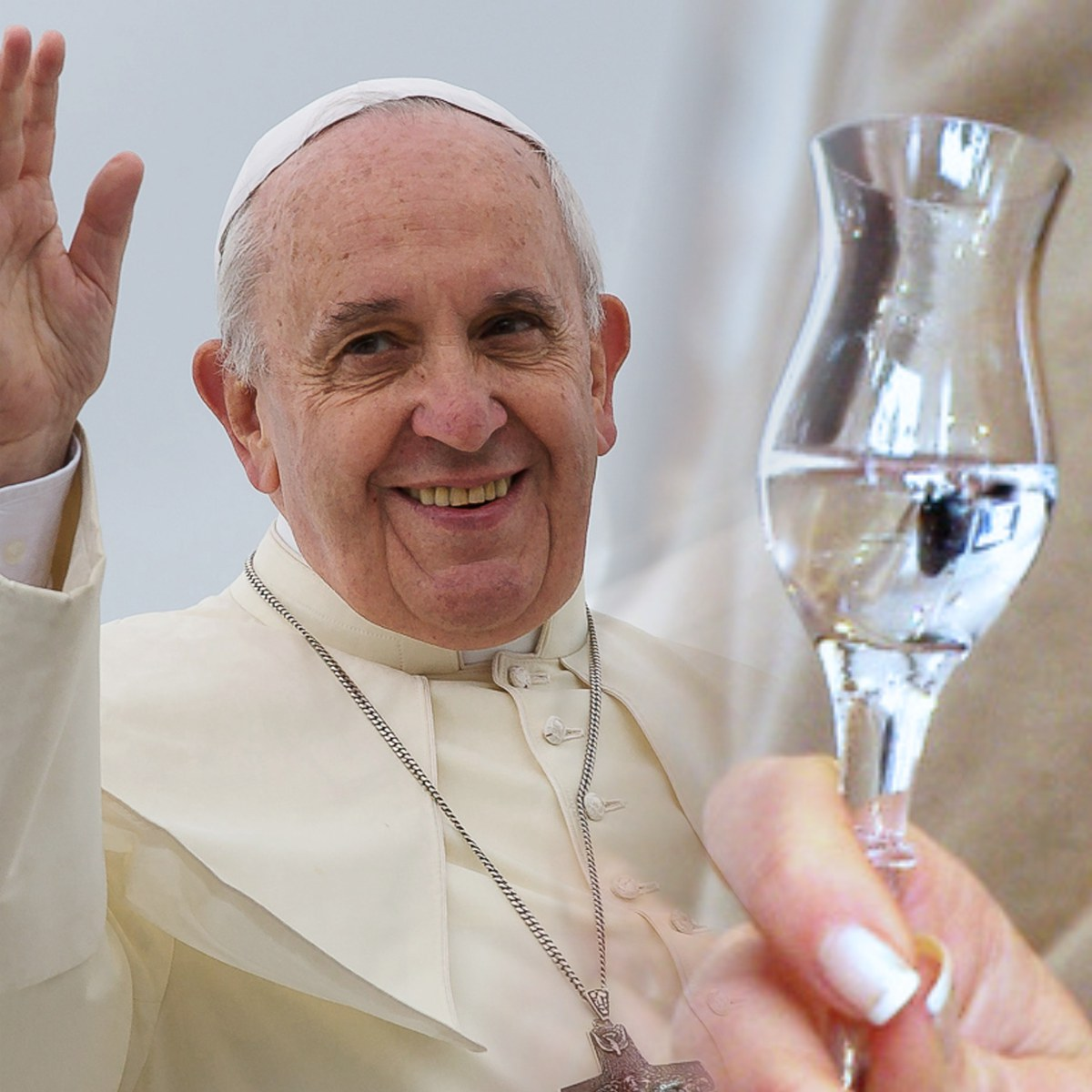 Grappa? A cure-all. Papa Francesco's words.